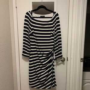 NWT Ralph Lauren Navy Stripped Dress